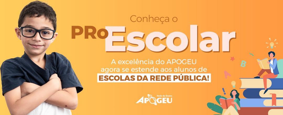 APOGEU lança programa de reforço escolar para alunos de escolas da rede pública